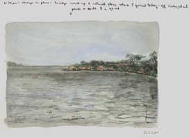 Sketchbooks M 5 - View from Bridge, Gloucester, MA