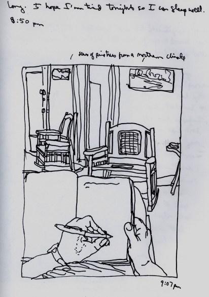 Sketchbooks H 5 - Living Room - Agramonte, Cuba