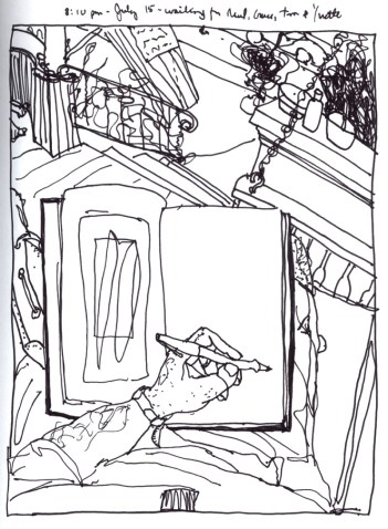 Sketchbooks K 8 - Porch Waiting for Tom and Yvette - Home - Dunkirk, NY