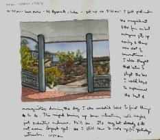 Sketchbooks Q 4 - Back Patio - Agramonte, Cuba