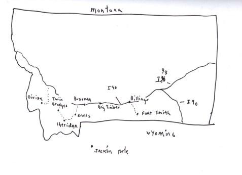 Sketchbooks S 11 - Map of Montana - Montana
