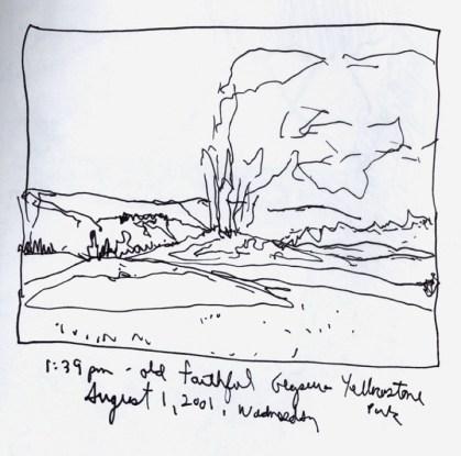 Sketchbooks S 13 - Old Faithful - Yellowstone