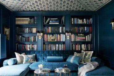 blue dark walls