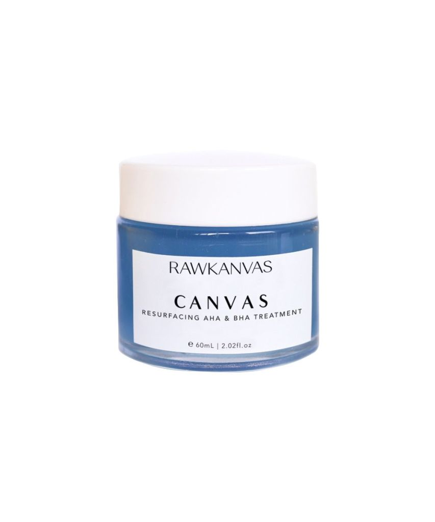 rawkanvas canvas aha bha exfoliating treatment mask alpha hydroxy acid