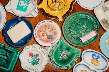ashtrays as decor