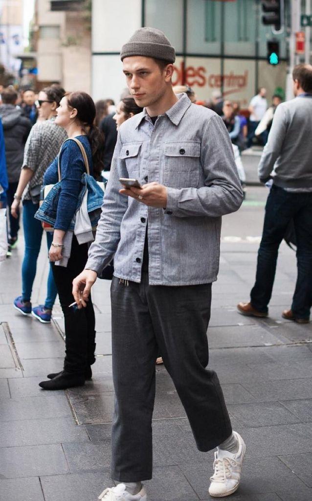 men beanie style workwear