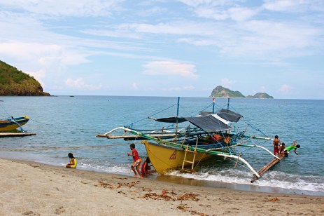 The boat that will take us to Anawangin.