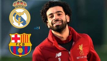 صلاح حائر بين برشلونة وريال مدريد