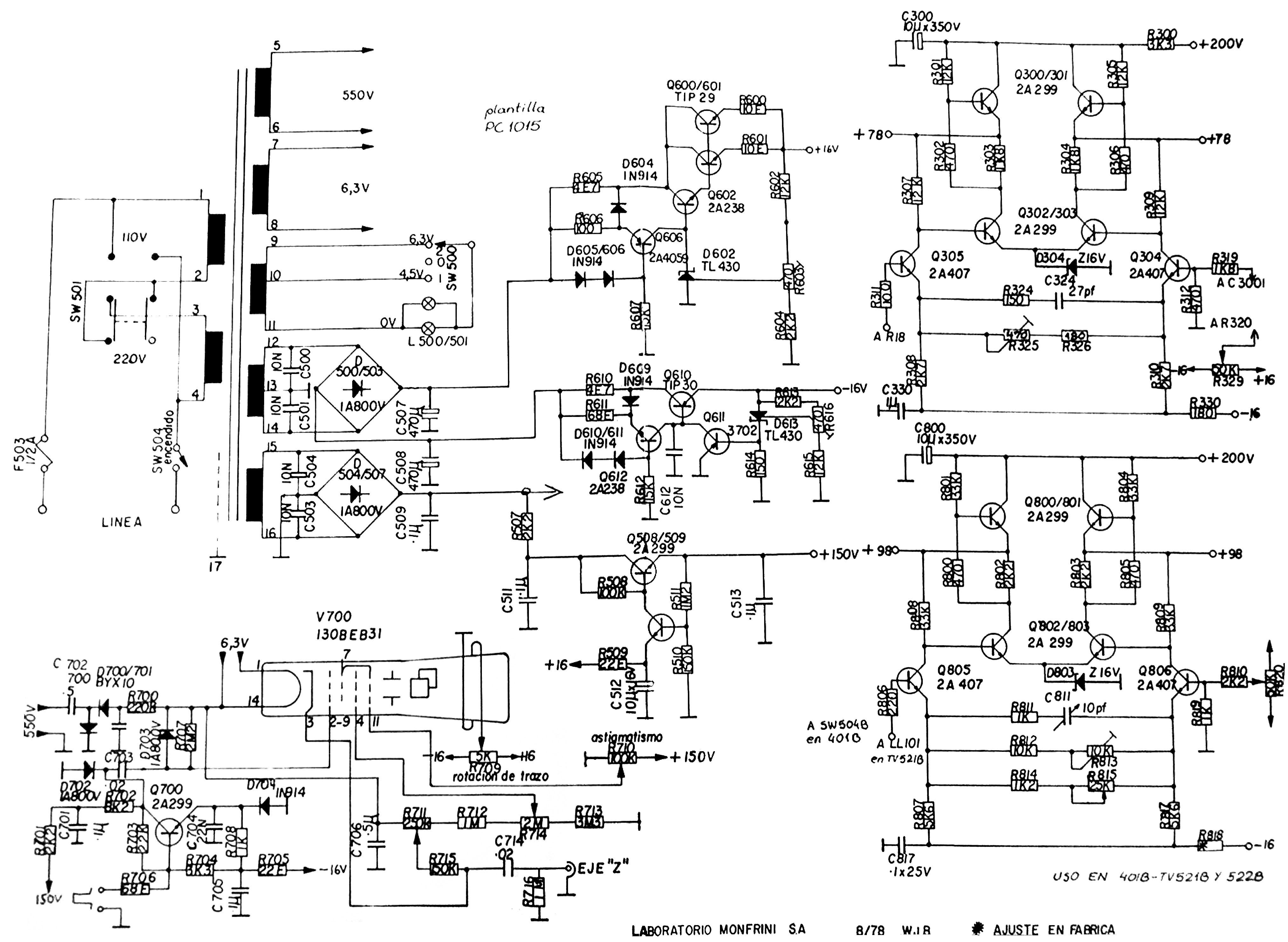 Osciloscopios E Instrumental Monfrini