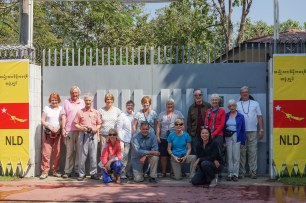 the Exodus Crew at Aung San Suu Kyi's