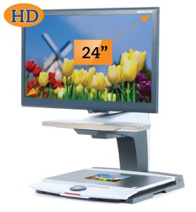 Optelec-ClearView+24inch-colourtulips-webready