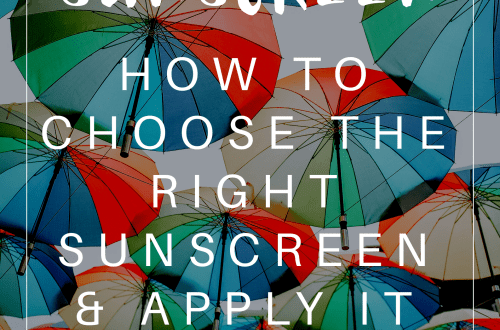 Sunscreen featured image with floating umbrellas