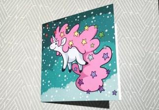 Positivity Unicorn Birthday Card