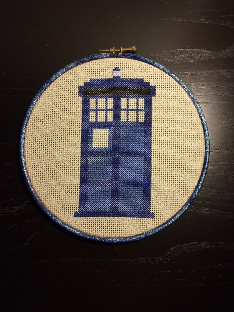 TARDIS Cross Stitch
