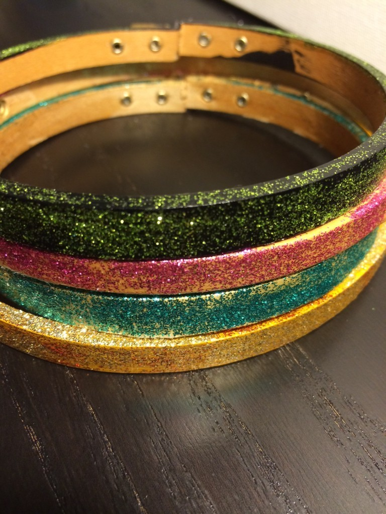 glitter hoops