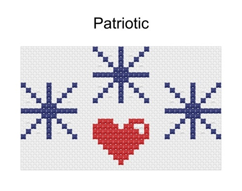 patriotic cross stitch pattern
