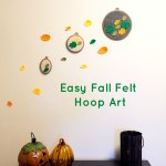 Easy Fall Felt Hoop Art