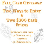 Fall Cash Giveaway with Just Us Four