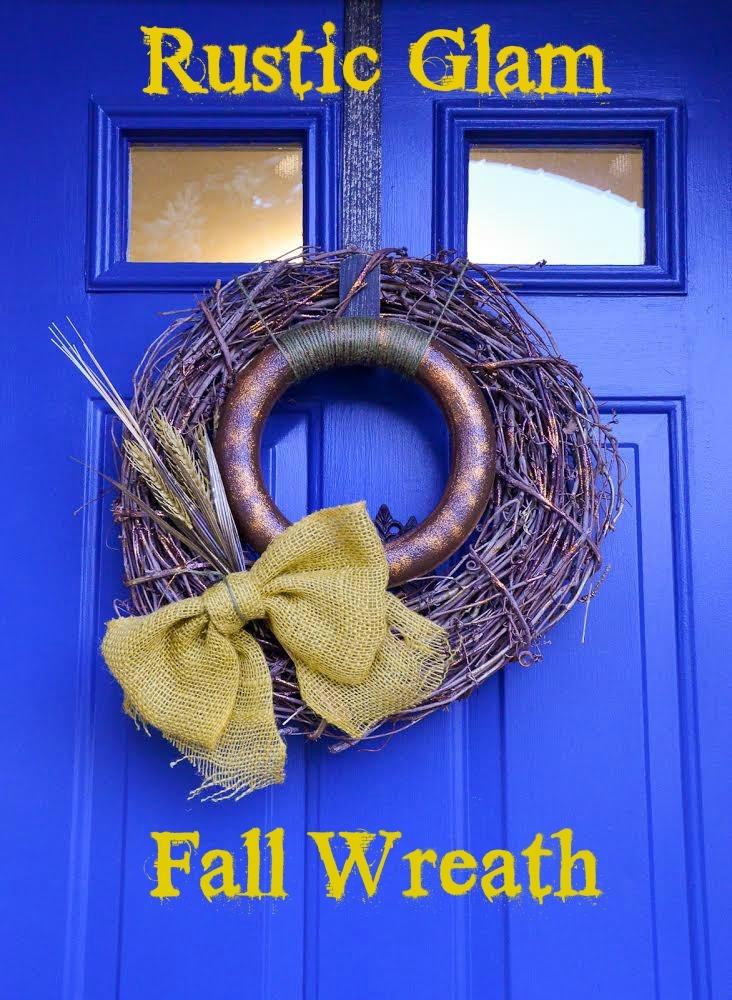 Rustic Glam Fall Wreath