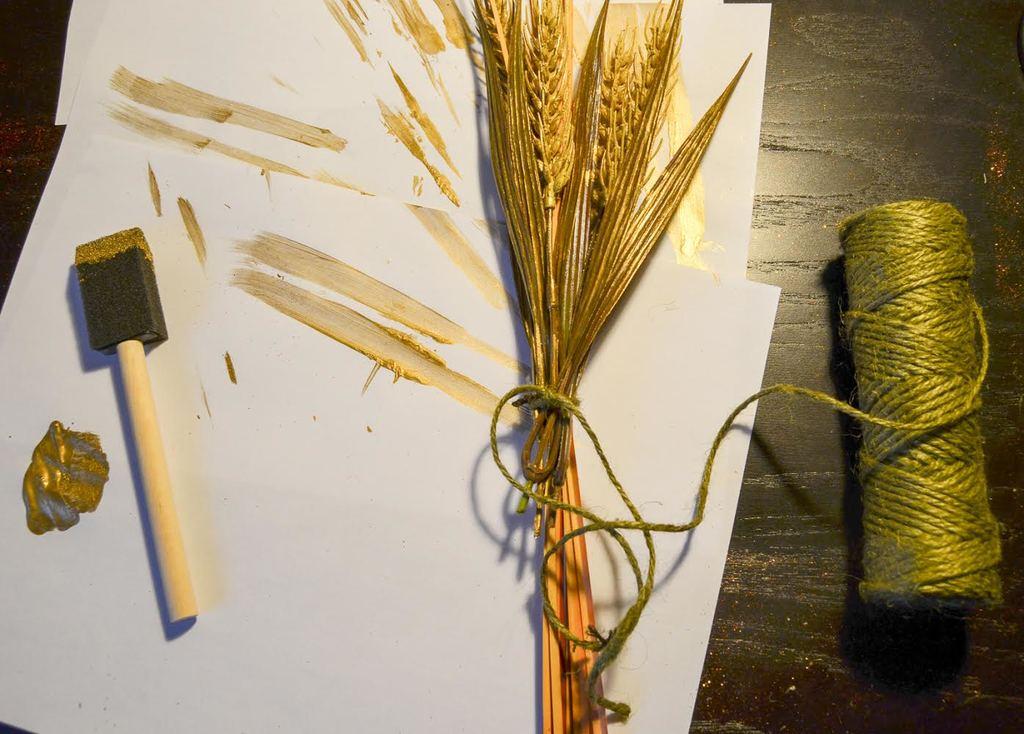 tie the wheat
