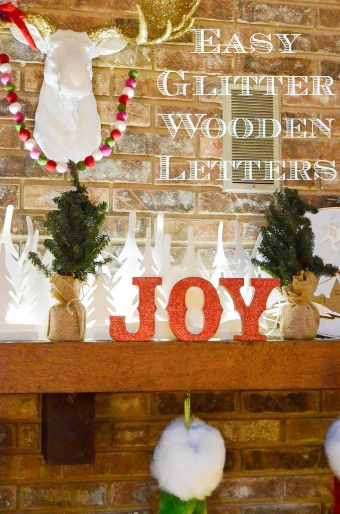 Glitter Wooden Letters