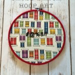 Curses Cross Stitch Hoop Art