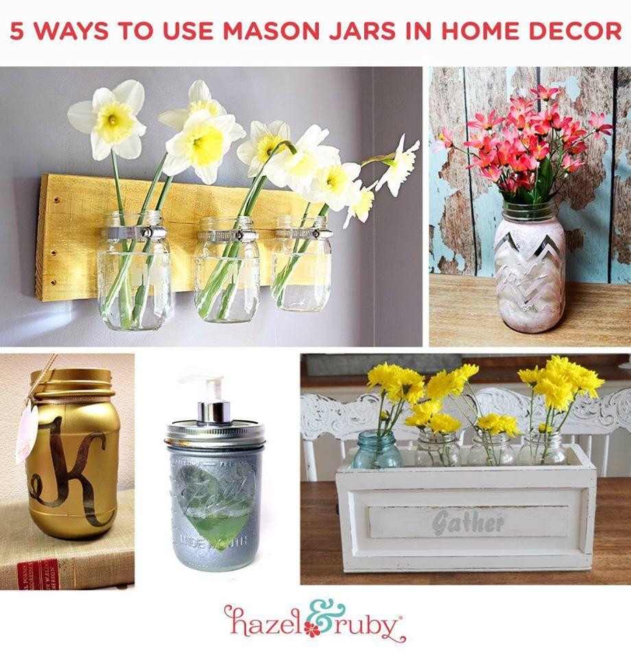 5 Ways to Use Mason Jars in Home Decor
