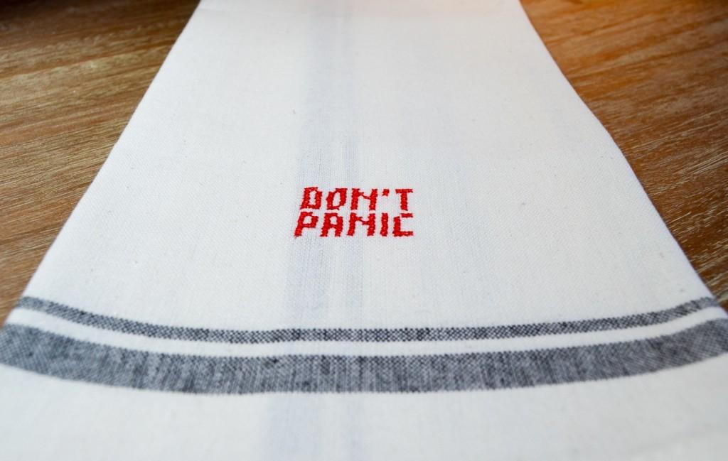 Don't Panic Tea Towel