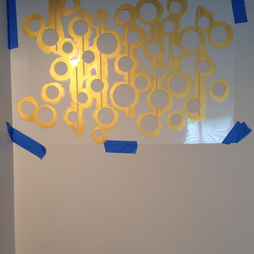 Uzma Circles Wall Stencil