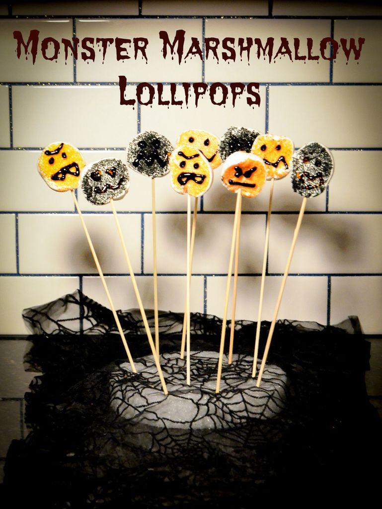 Monster Marshmallow Lollipops