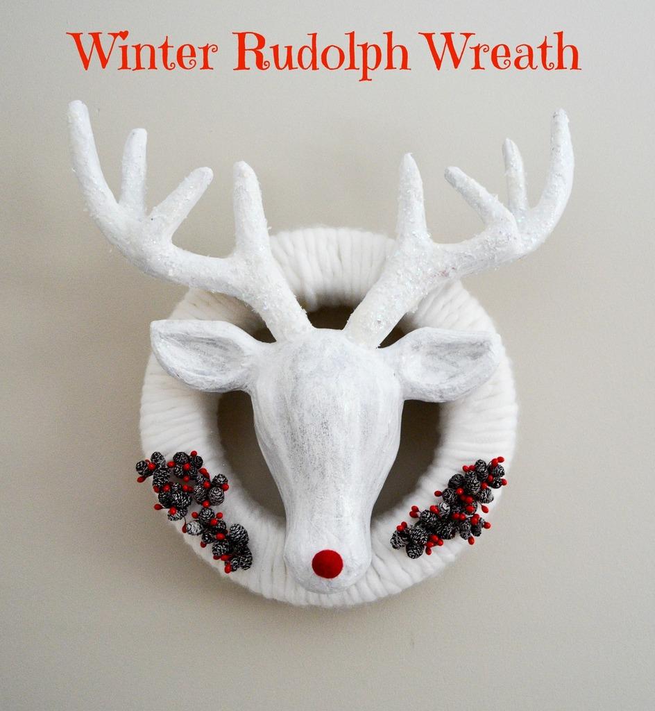 Winter Rudolph Wreath