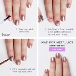 Mad for Metallics Nail Art Tutorial from Julep