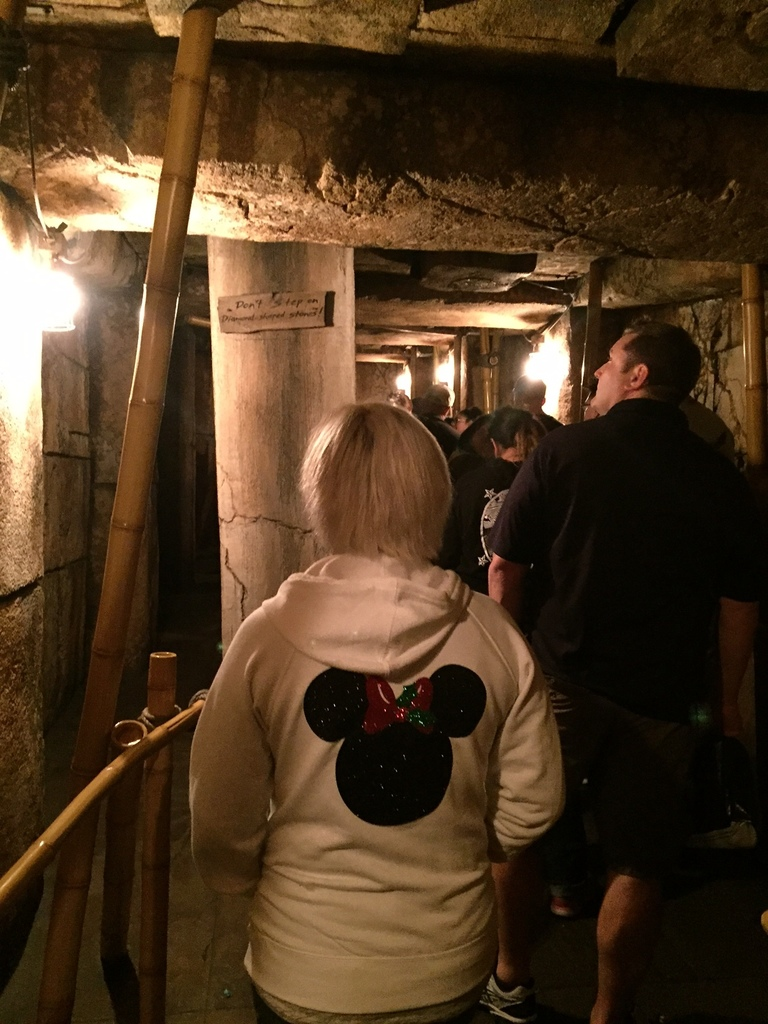 Hoodie in line for Indiana Jones