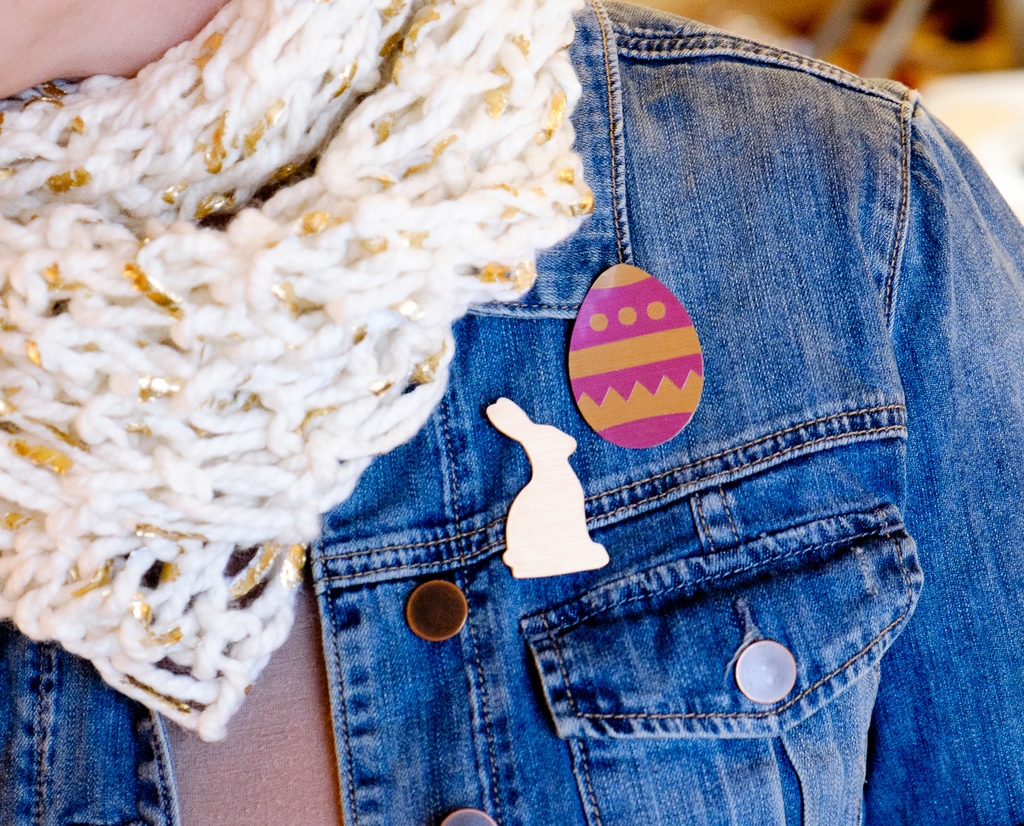 Easy Easter Brooches with Cricut