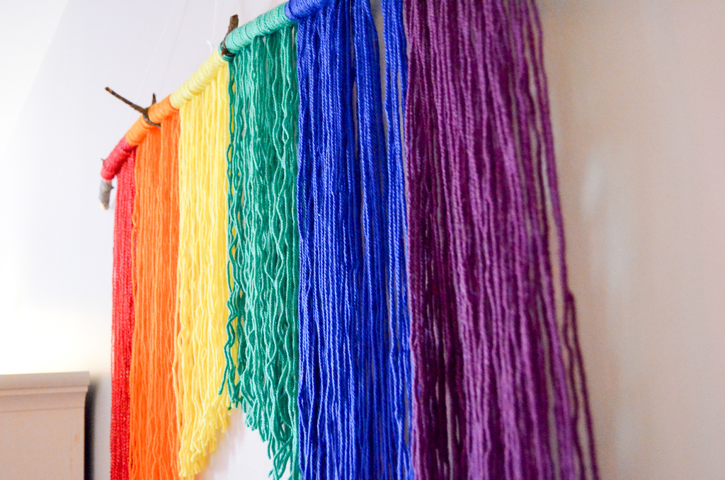Rainbow Yarn Hanging