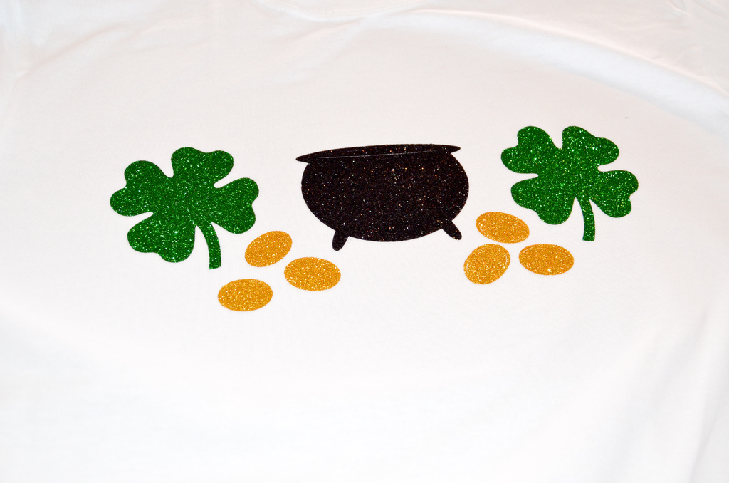 pot of gold and shamrocks