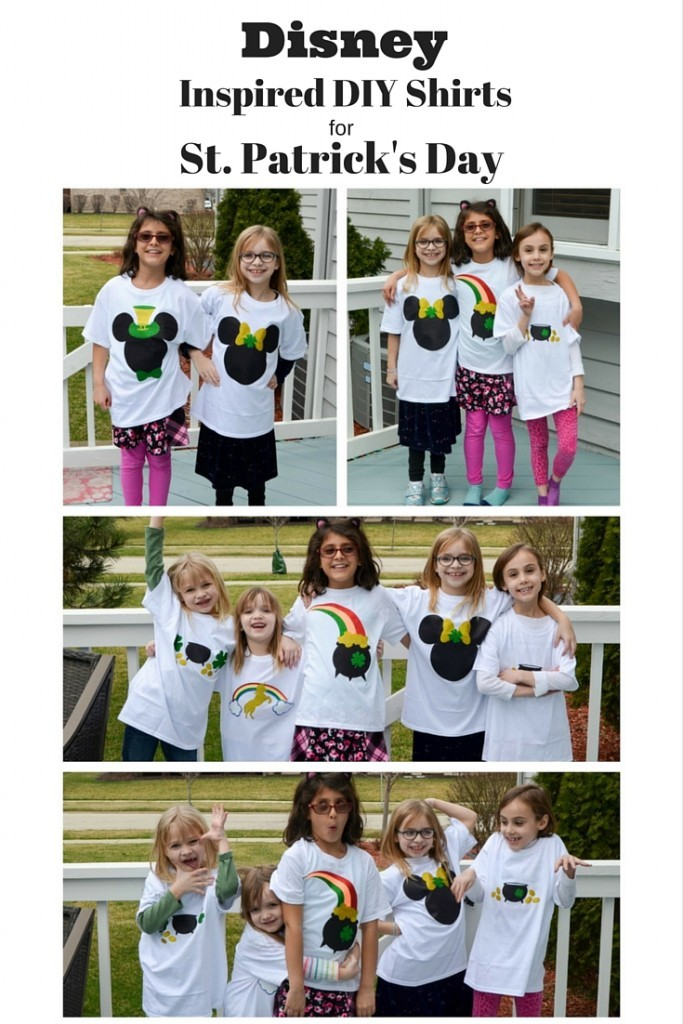 Disney Inspired DIY Shirts for St. Patrick's Day