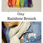 Clay Rainbow Brooch