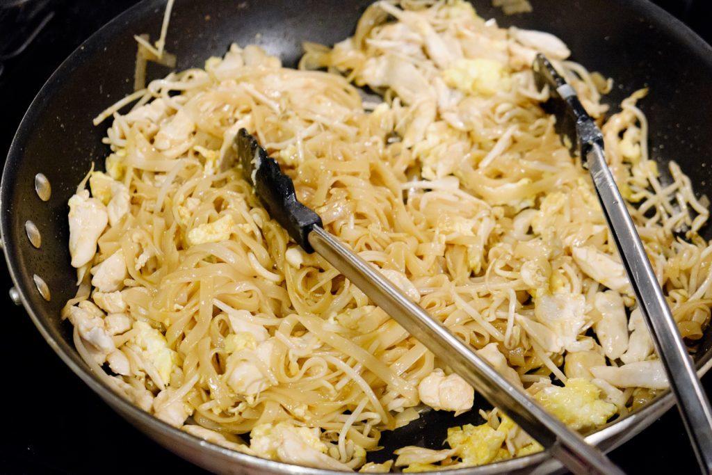 add egg and chicken