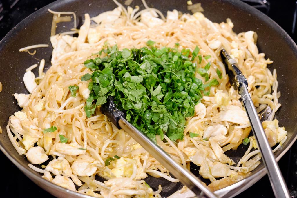 add spring onions and cilantro