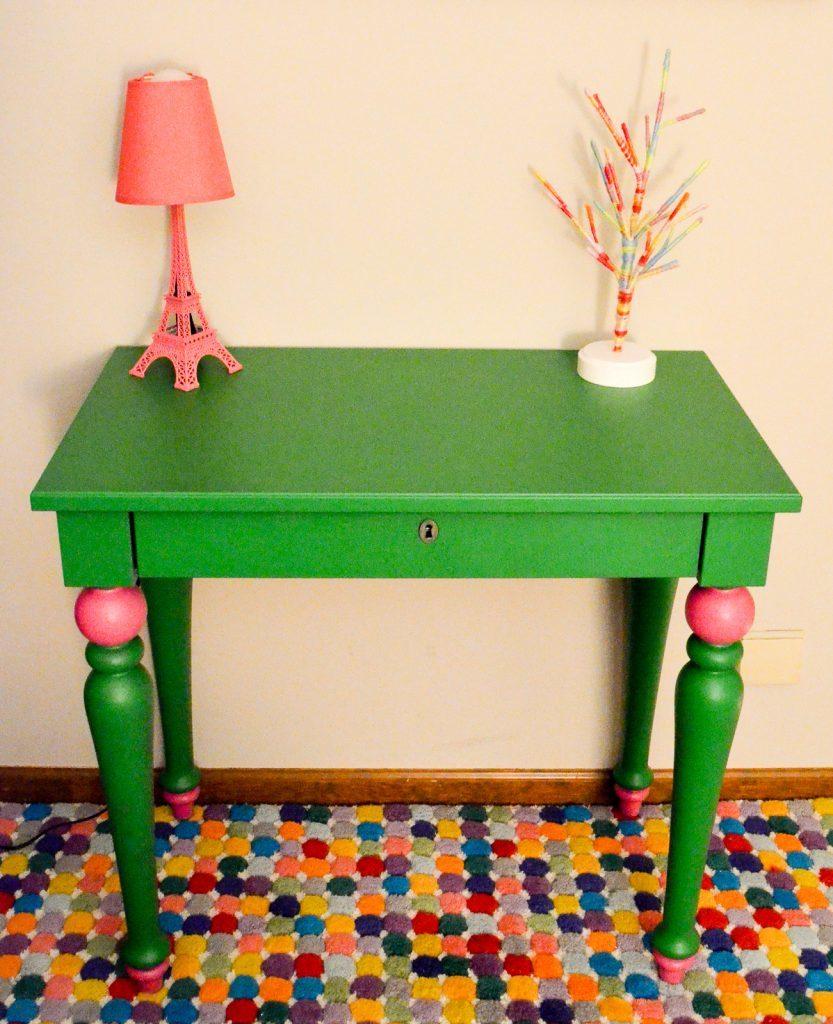 Whimsical Painted Kids Desk