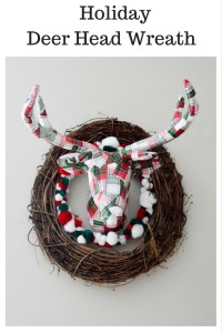 Holiday Deer Head Wreath