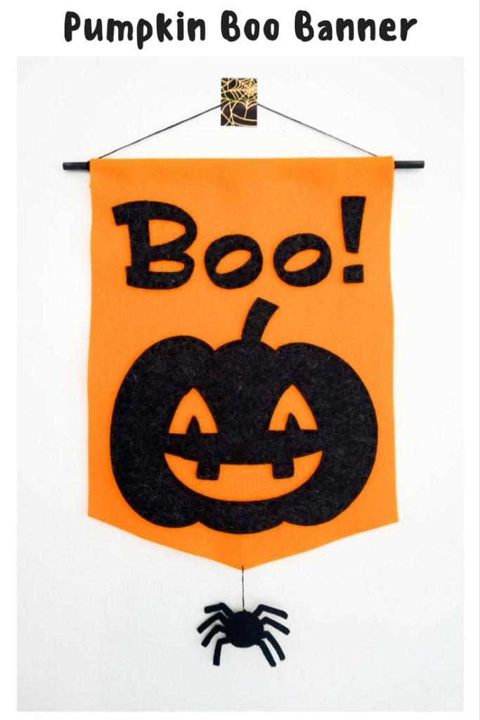 Pumpkin Boo Banner