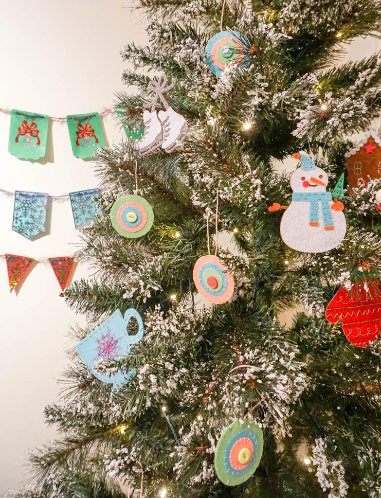 Felt Medallion Ornaments