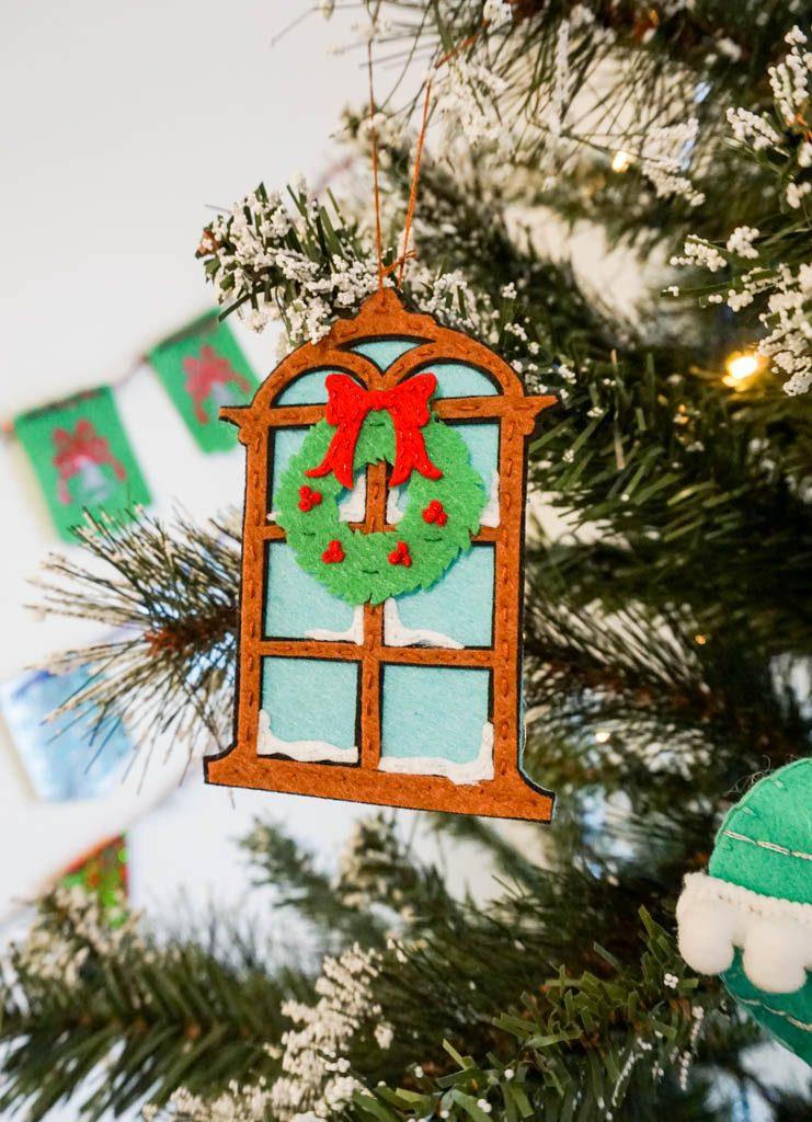 Christmas Window Felt Ornaments