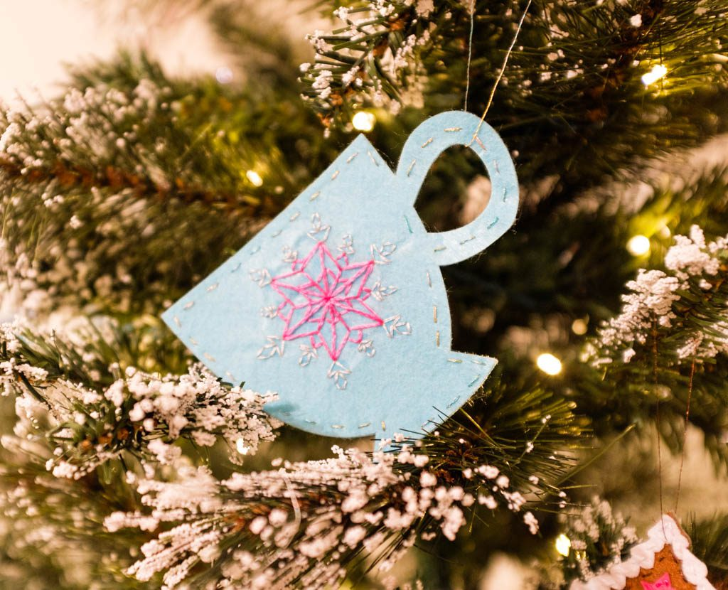 Winter Felt Ornaments with Cricut