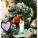 Faux Leather and Felt Candle Ornament