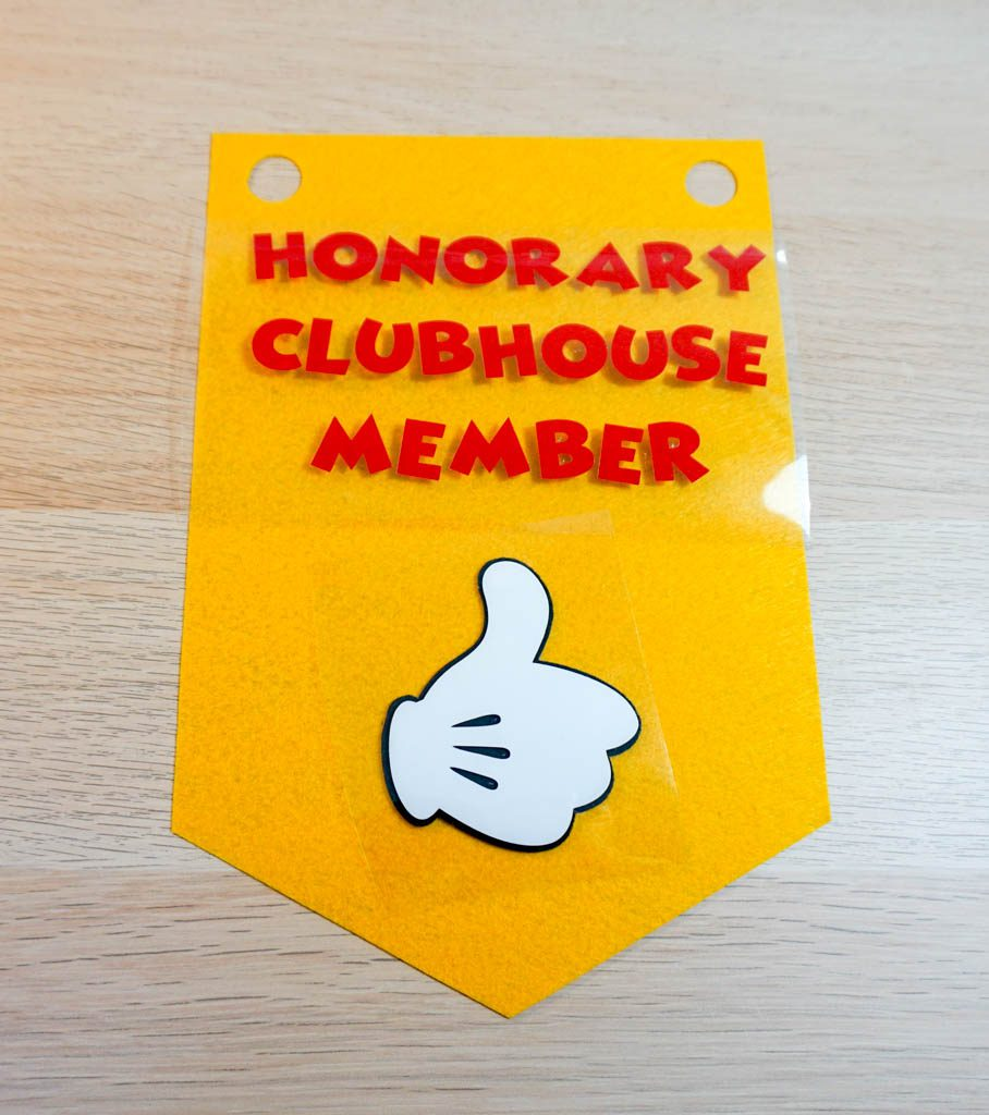 Honorary Clubhouse Member Banner
