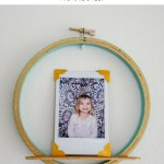 Fifteen Minute Embroidery Hoop and Popsicle Stick Picture Shelf