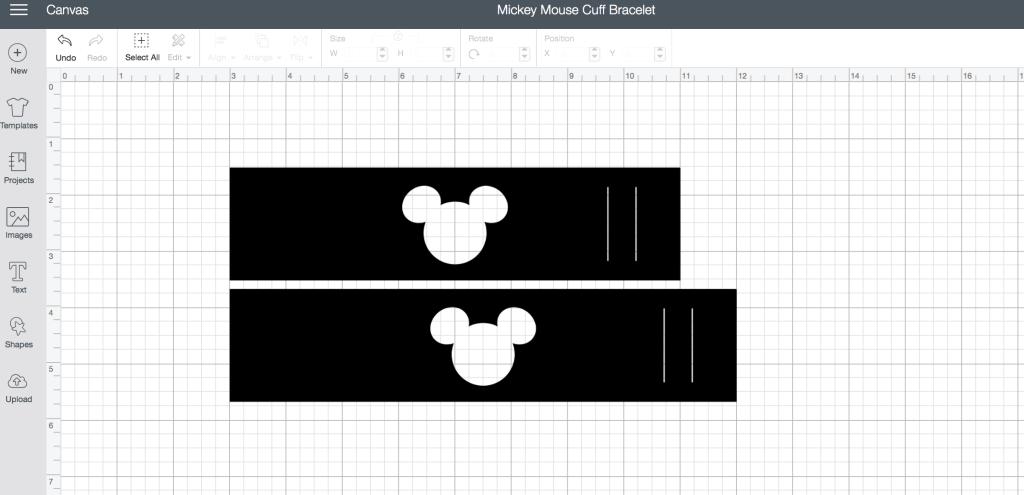 Mickey Mouse Cutout Cuff Bracelet